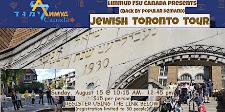 Tour of Jewish Toronto tickets