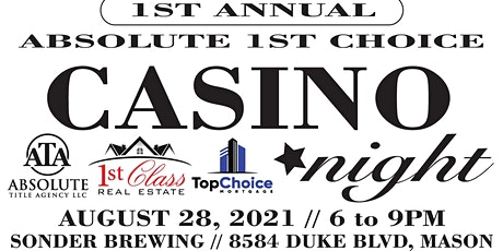 1st Annual Absolute 1st Choice Casino Night to benefit JoyRide Cars tickets