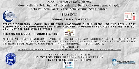 School  Supply Giveaway tickets