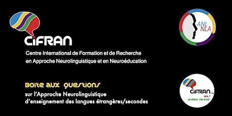 ANL1 Québec 08-2021 / Boîte aux questions du stage tickets
