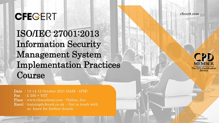 ISO/IEC 27001:2013 ISMS Implementation Practices Course image