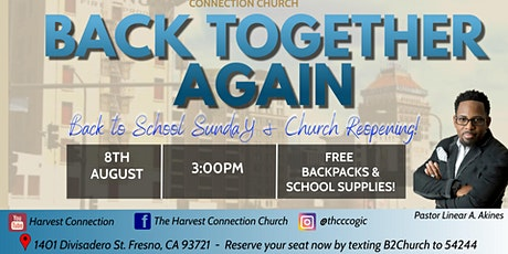 Annual Back to School Sunday & Church Reopening! tickets