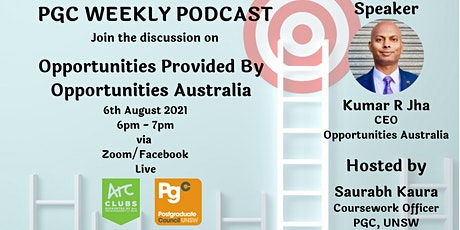 PGC Weekly Podcast Episode 12 with Kumar R Jha tickets