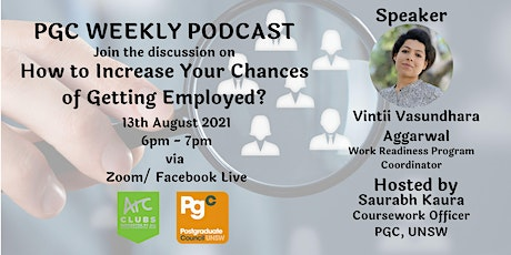 PGC Weekly Podcast Episode 13  with Vintii Vasundhara Aggarwal tickets