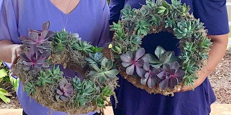 Sips + Succs Workshop: Succulent Wreath tickets