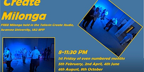Create Milonga 6th August In Person Booking tickets