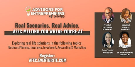 Real Scenarios. Real Advice.  AFEC Meeting You Where You're At tickets