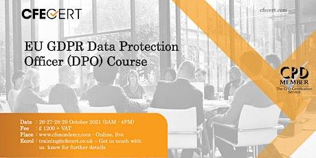 EU GDPR Data Protection Officer (DPO) Course tickets