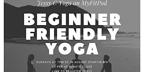 Beginner Friendly Yoga tickets