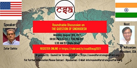 Discussion on: THE QUESTION OF SINDHUDESH tickets