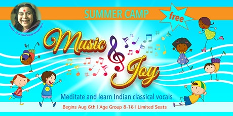 Free 3-day Summer Camp For  Kids- Meditate & Learn Indian Classical Vocal tickets