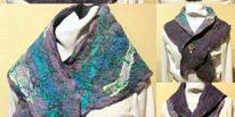 WET FELTED SCARF OR NECK WARMER Monday, November 01, 10:00 am- 2:00 pm tickets