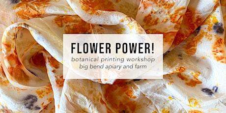 Flower Power! Botanical Printing Workshop - SUNDAY tickets