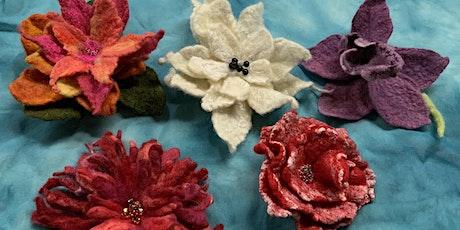 WET FELTING FLOWERS -Saturday, December 11, 2:00 pm- 5:00 pm tickets