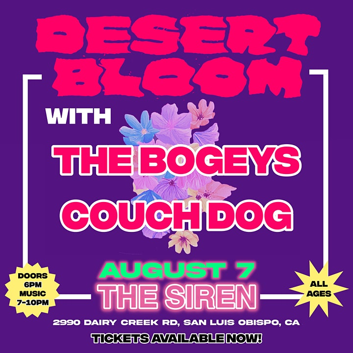 DESERT BLOOM with The Bogeys and Couch Dog image