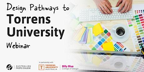 Design Pathways to Torrens University tickets