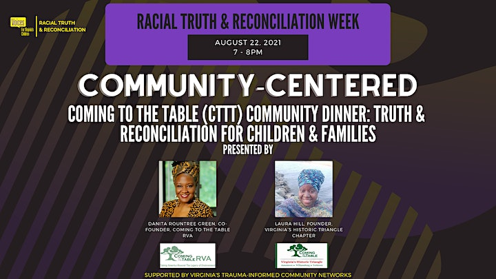 Coming to the Table (CTTT) Community Dinner: Truth & Reconciliation image