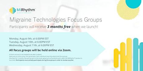 Migraine Technologies Focus Group #1 tickets