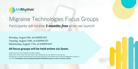 Migraine Technologies Focus Group #2 tickets