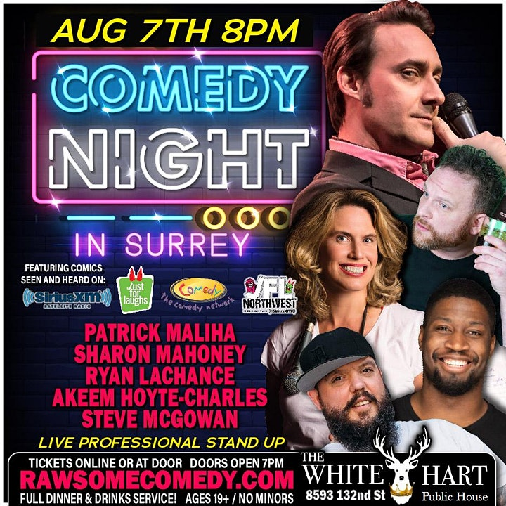 Live Comedy Night featuring Patrick Maliha at the White Hart Pub (Surrey) image