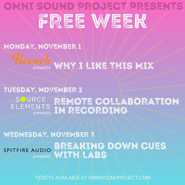 Omni Sound Project presents Free Week 2021 image