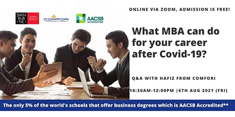 What MBA can do for your career after Covid 19 ? - 6th LIVE Session tickets