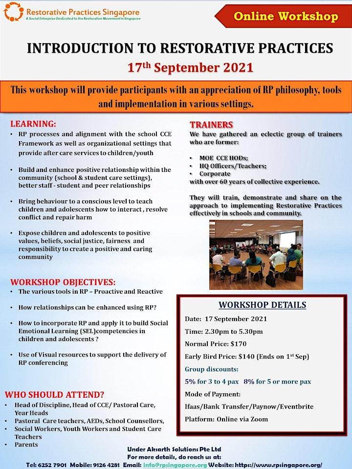 Introduction to Restorative Practices Workshop image