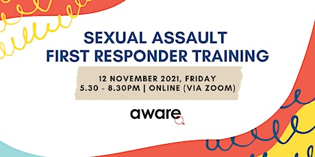 12 November 2021: Sexual Assault First Responder Training (Online Session) tickets
