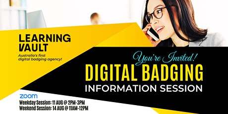 FREE: Digital Badging Information Session [Weekend Session] tickets