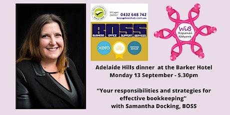 Adelaide Hills Dinner - Women in Business Regional Network -  Mon 13/9/2021 tickets
