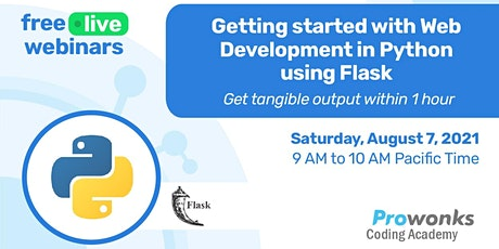 Getting started with Web Development in Python using Flask tickets