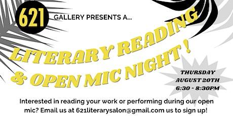 August Literary Salon & Open Mic tickets