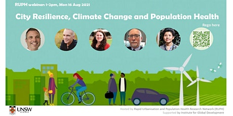 RUPH webinar: City Resilience, Climate  Change and Population Health tickets