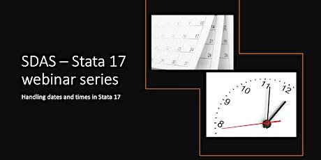 SDAS 2021 Webinar Series - Webinar 1: Dates and Times in Stata tickets