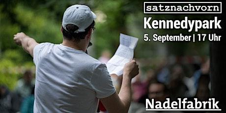 satznachvorn im Kennedypark // Poetry Slam im Ostviertel billets