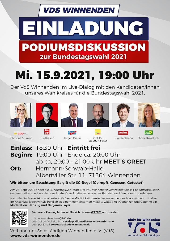 Podiumsdiskussion zur Bundestagswahl 2021 / VdS-Winnenden: Bild