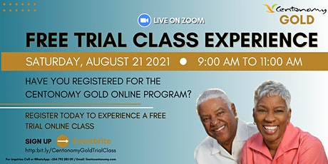FREE TRIAL CLASS EXPERIENCE - CENTONOMY GOLD tickets