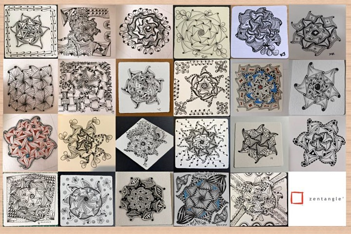 Zentangle Art Course starts  Nov 11 (8 sessions) image