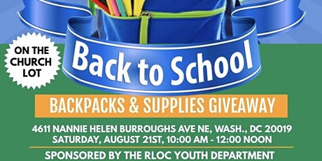 Free Backpacks and School Supply Giveaway tickets