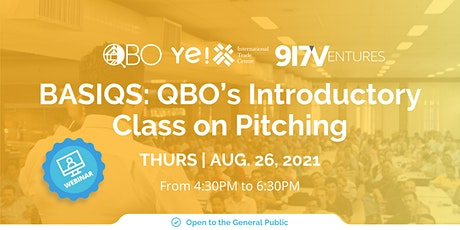 BASIQS: QBO's Introductory Class on Pitching tickets