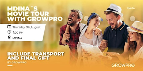 Mdina´s Movie and History  Tour  with GrowPro tickets