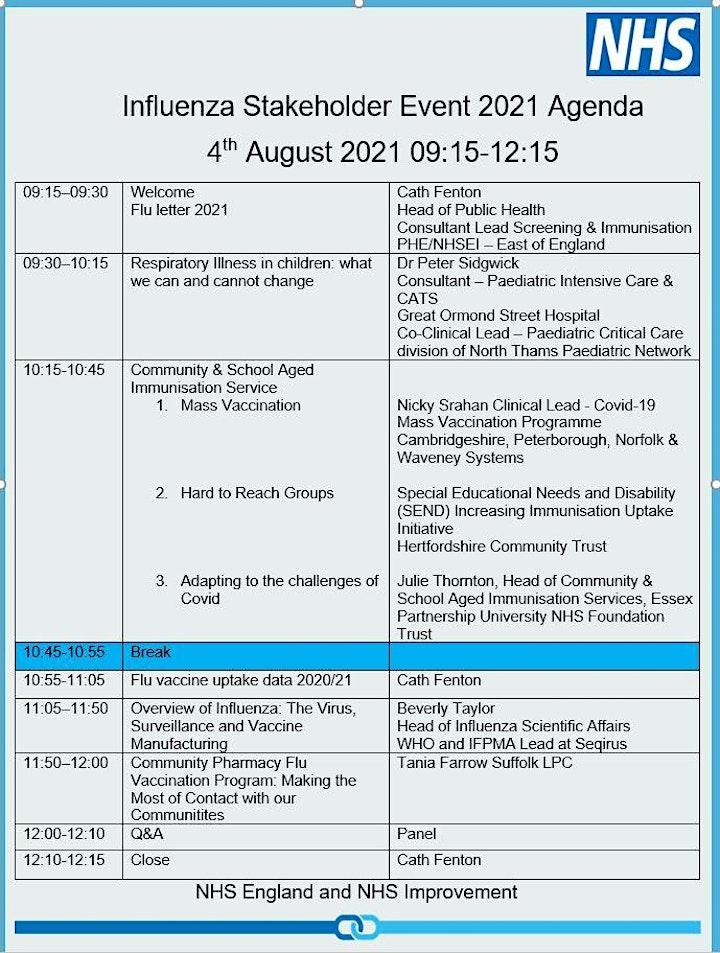 Influenza Education Event 2021/22 image