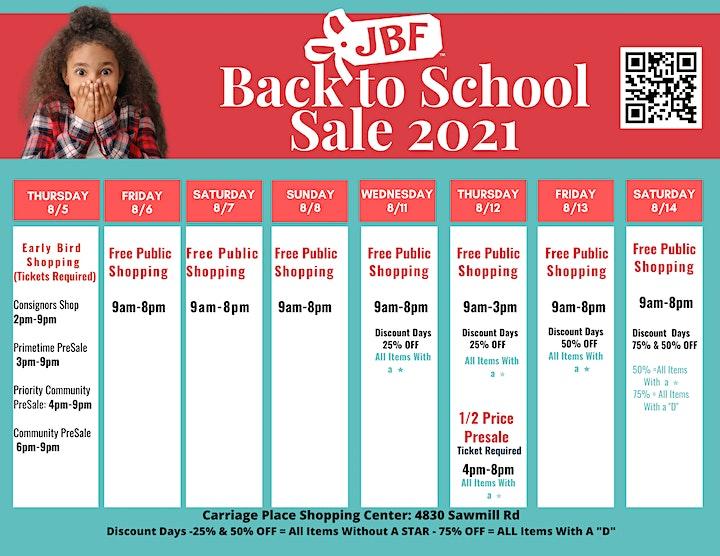 Huge JBF Kids' Back To School  Sale  Fall 2021 image