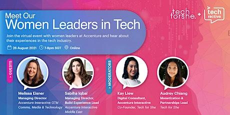 Meet our Women Leaders in Tech tickets