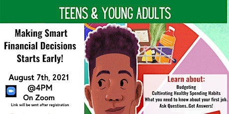 Financial Literacy Workshops for  Teens and Youths -  Budgeting And Saving tickets