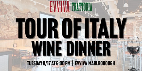 Tour of Italy Wine Dinner - Evviva Marlborough tickets