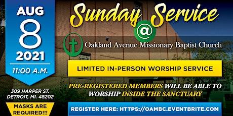 OAMBC Sunday Service 8-8-2021 tickets