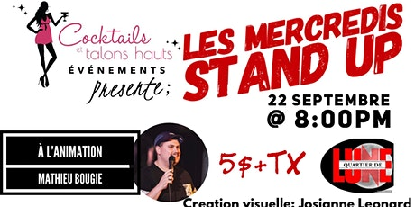 Les  mercredis Stan up au bar Quartier de Lune tickets