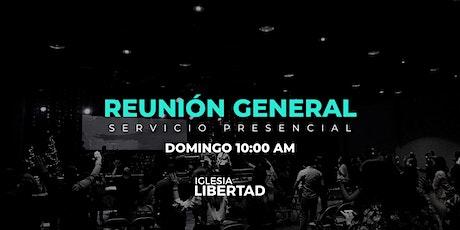 Reunión General | Domingo 10 AM boletos