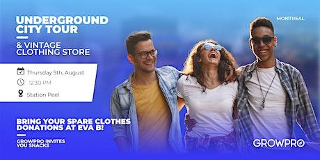 Underground city tour & vintage clothing store: Eva B! tickets